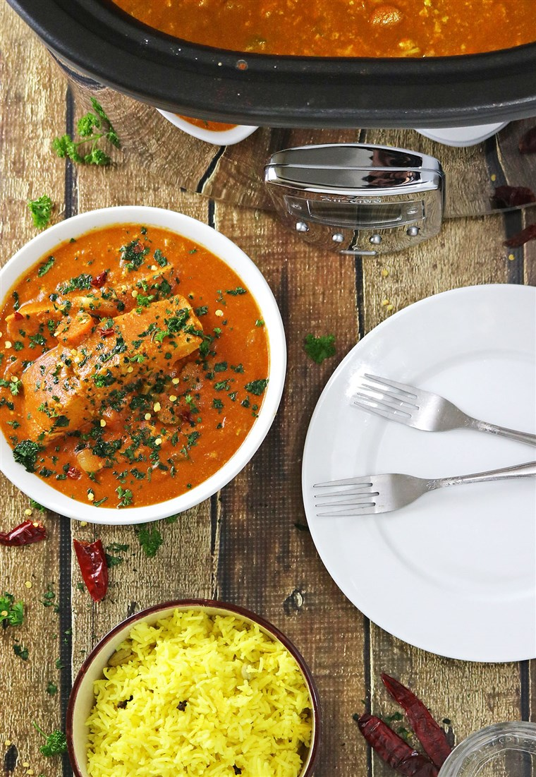 Fogão Lento Salmon Curry recipe from Shashi Charles of Runnin Srilankan