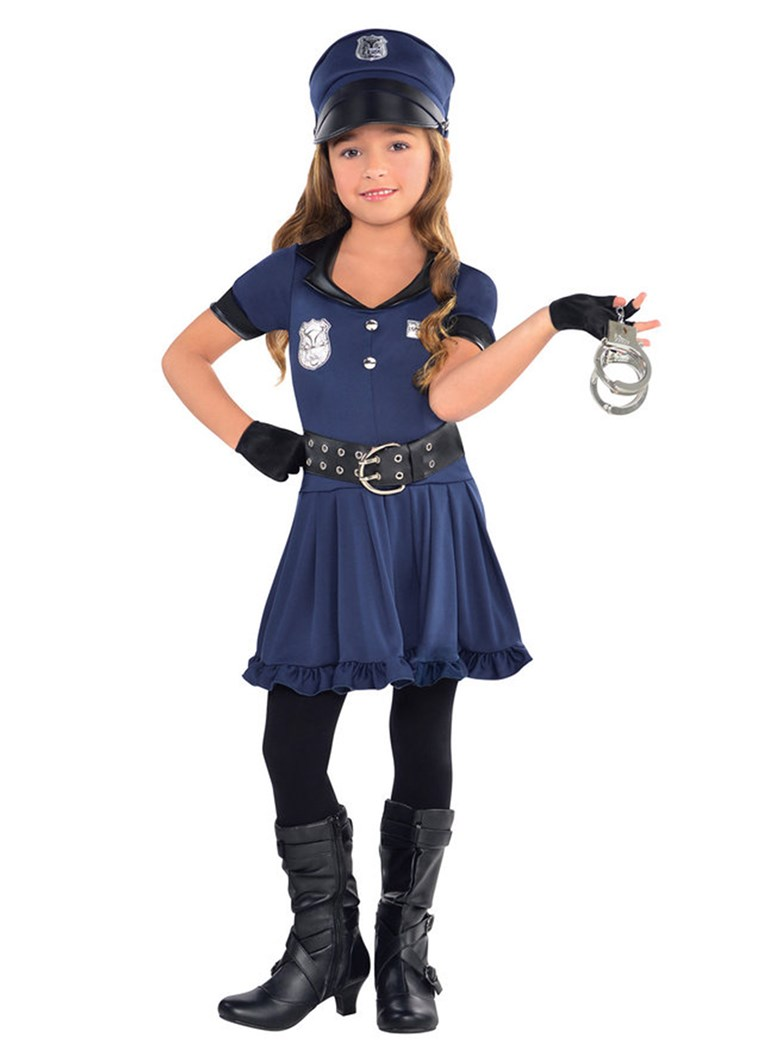 Policial Cutie Girl's Costume