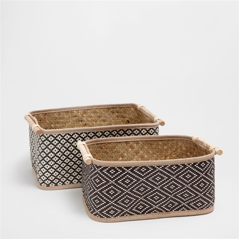 Twee Toned Rectangular Basket