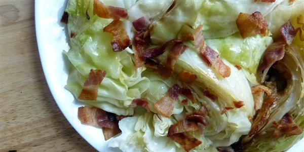 Bacon-Roasted Cabbage Wedges