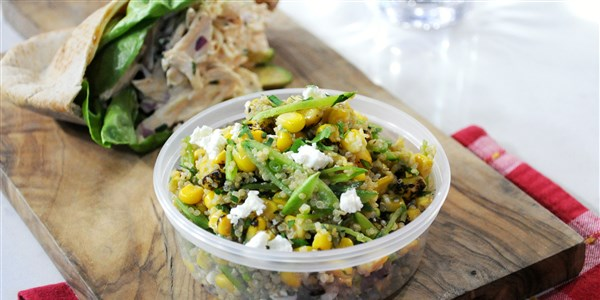 Snap Pea, Charred Corn and Quinoa Salad