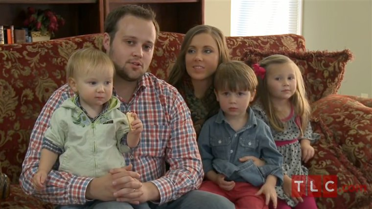 Josh Duggar with his family on