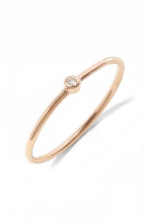 Zoe Chicco bezel diamond gold ring