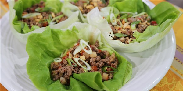 Siri Daly's Asian Beef Lettuce Cups