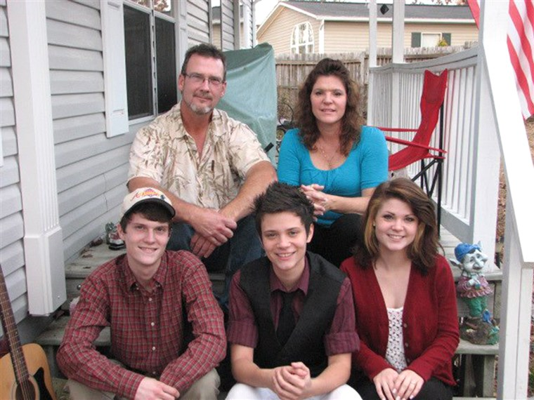De Duclos family at Thanksgiving in 2012.