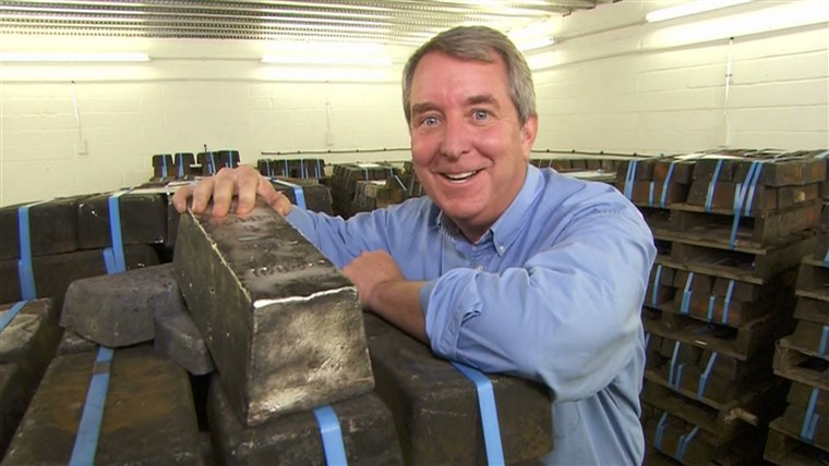 Kerry Sanders visits the secret location in England where $77 million worth of silver bricks are being held.