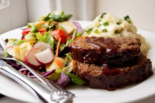 Honning barbecue meatloaf