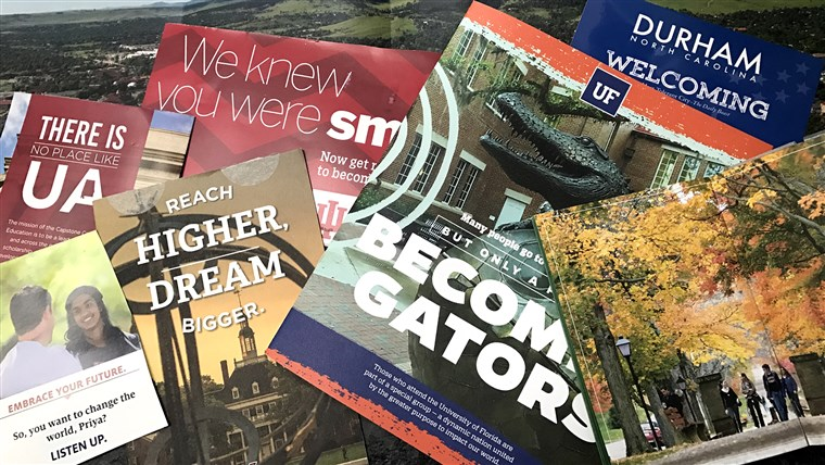 Zo many college brochures... Just say