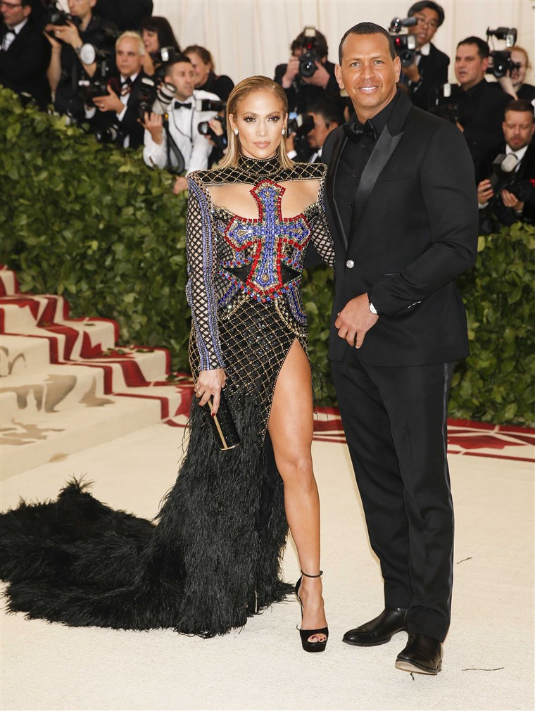 Zanger Jennifer Lopez and Alex Rodriguez arrive at the Metropolitan Museum of Art Costume Institute Gala (Met Gala) in New York on May 7, 2018.