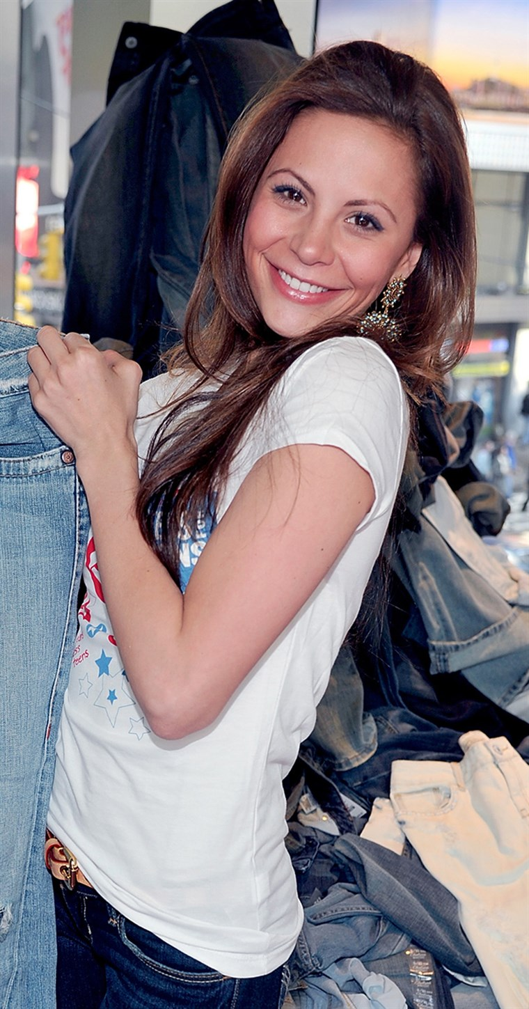 Gia Allemand attends DoSomething.org's Teens for Jeans event in 2011.