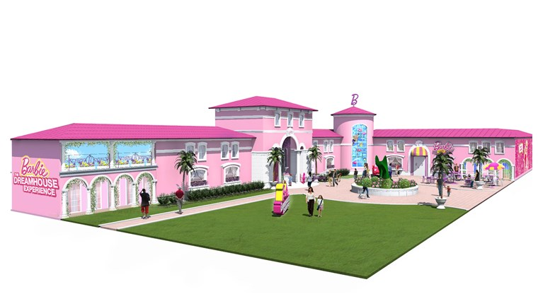 The Barbie Dreamhouse Experience in Florida, which is a 10,000-square-foot building, is one of only two in the world along with one in Berlin, Germany.