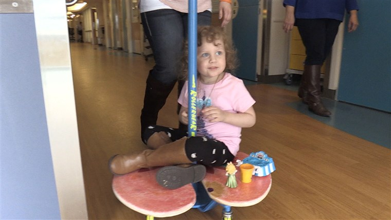 Lilia pads, or a version of a skateboard attached to an IV pole.