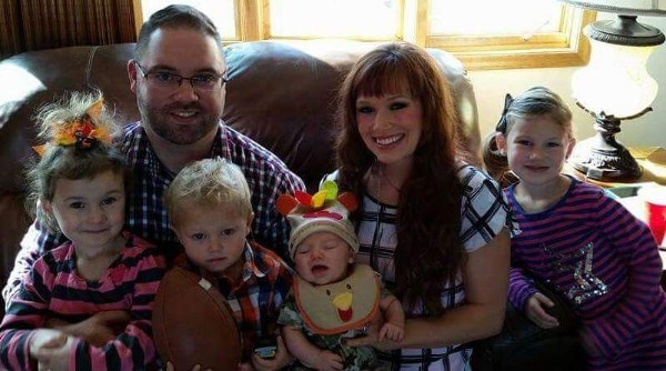 o Stine family has been praying for the recovery of newborn Knox, center, who was found