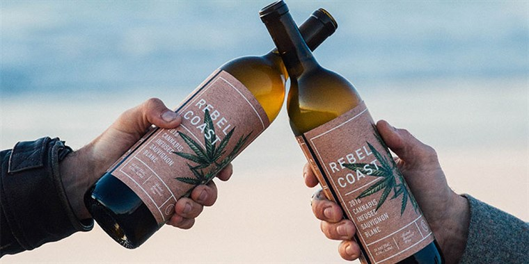 Opprører Coast Winery's cannabis-infused sauvignon blanc wine