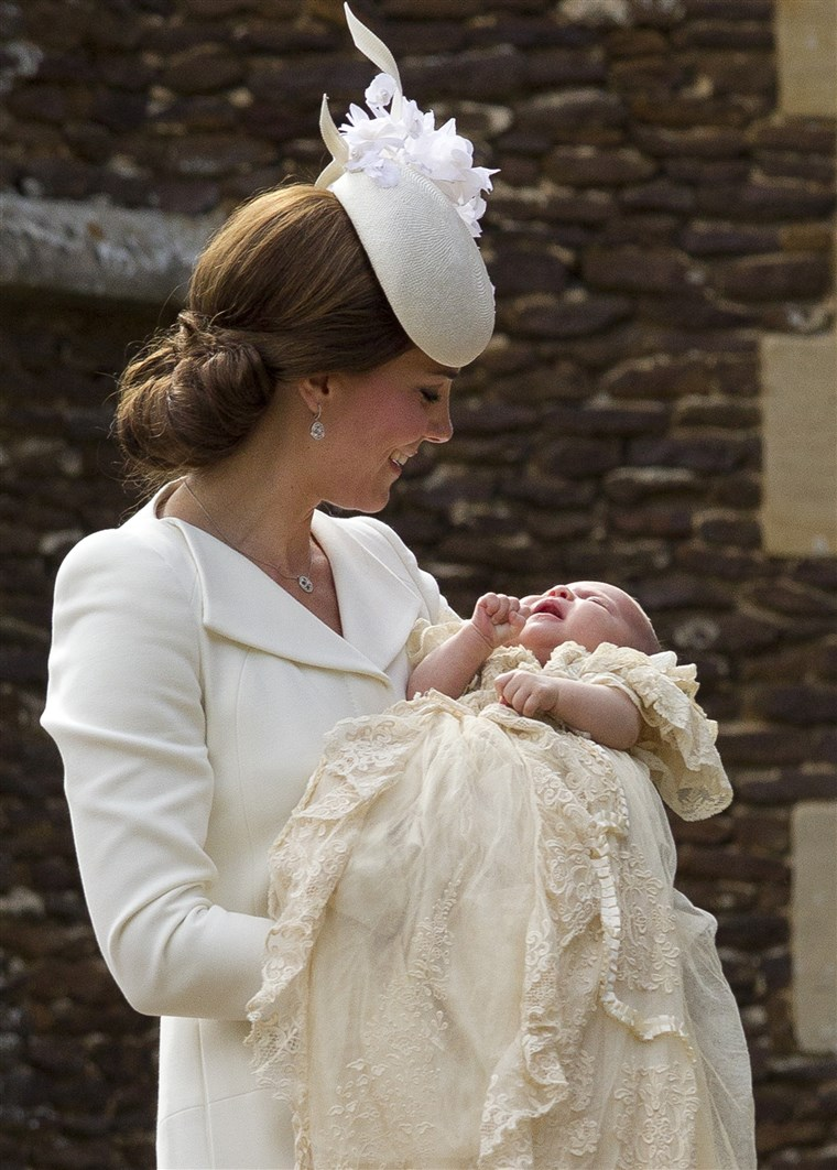 Kate Duchess of Cambridge, Princess Charlotte, christening