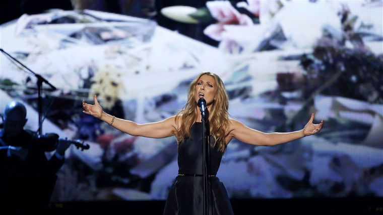 Celine Dion at the American Music Awards on Nov. 22.