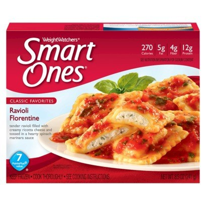 Weight Watchers Smart Ones Ravioli Florentine was a top pick for budget frozen diet meals, according to Cheapism.com