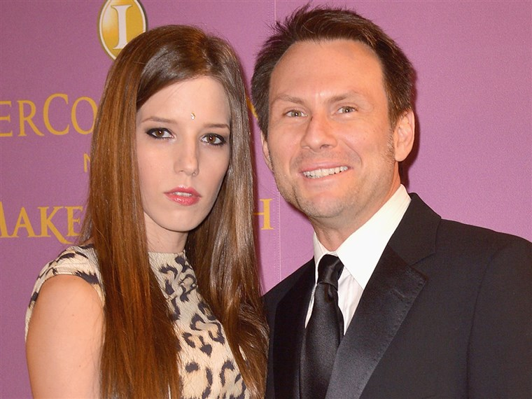 BILDE: Brittany Lopez and Christian Slater