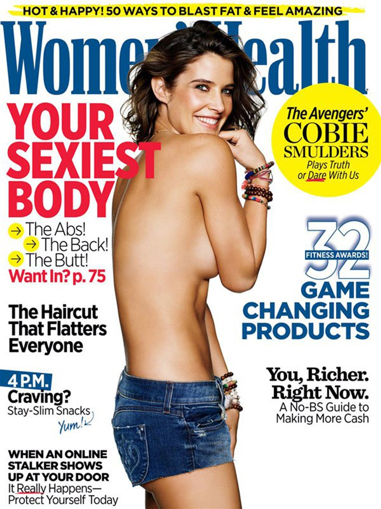 Cobie Smulders on cover of Women's Health