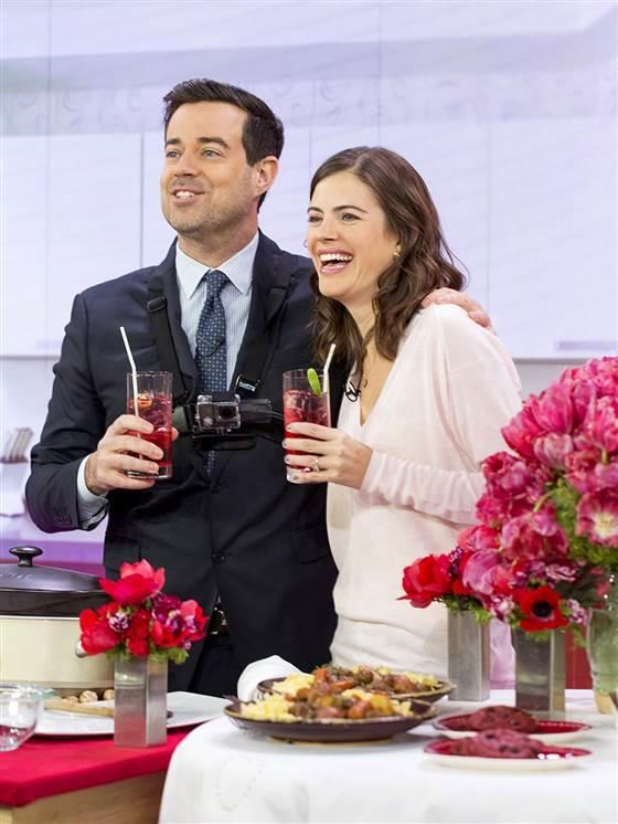 HARI INI Show: Busy parents Siri Pinter and Carson Daly cook up a Valentine's Day dinner in Studio 1A -- February 10, 2015.