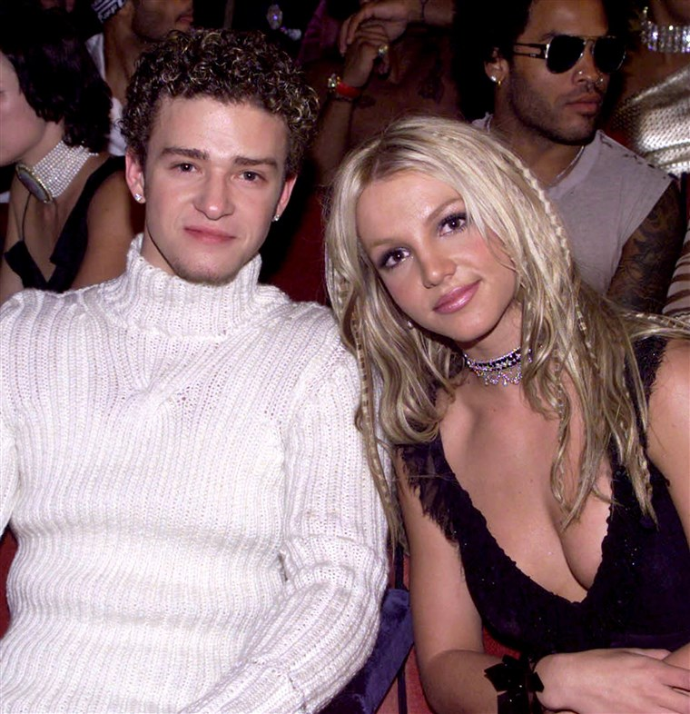 Beeld: Justin Timberlake and Britney Spears