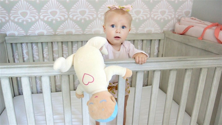 De doll's soft, plushy feel makes it a sweet toy - even if your baby isn't sleeping.