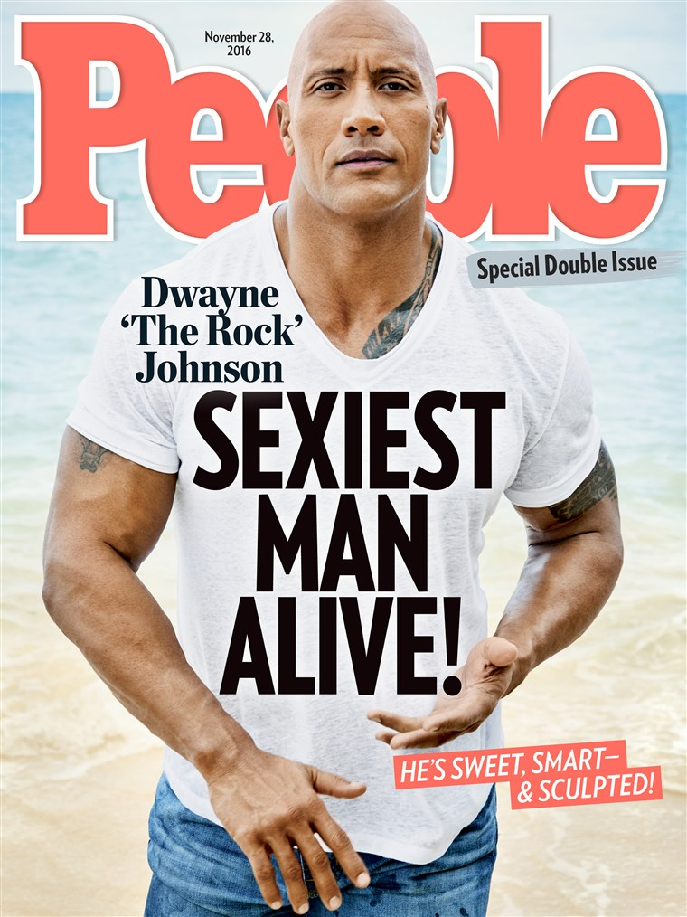 Dwayne Johnson People Magazine Sexiest Man Alive cover