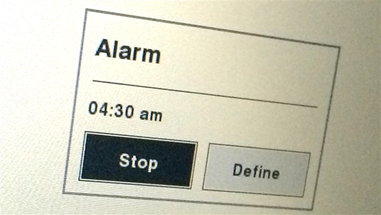 Tamron's alarm goes off at 4:30am.