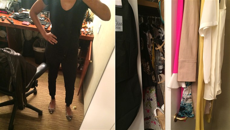 Closet selfie! Inside the wide world of Tamron's outfit options.