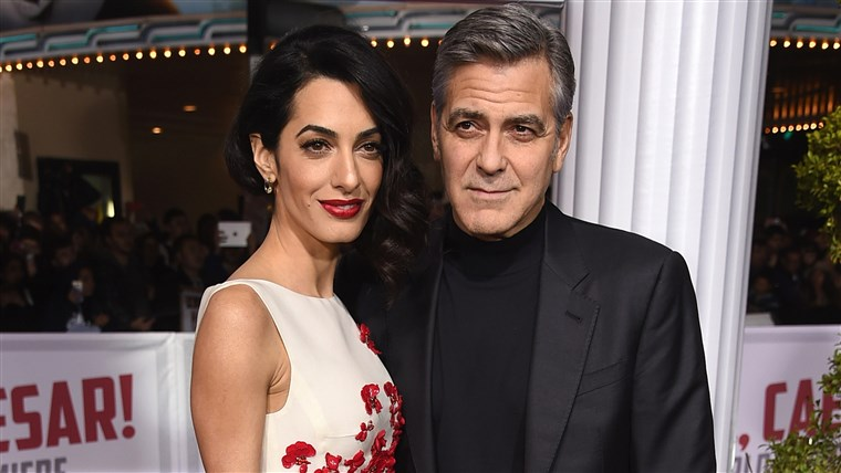 Jerzy Clooney and Amal Clooney