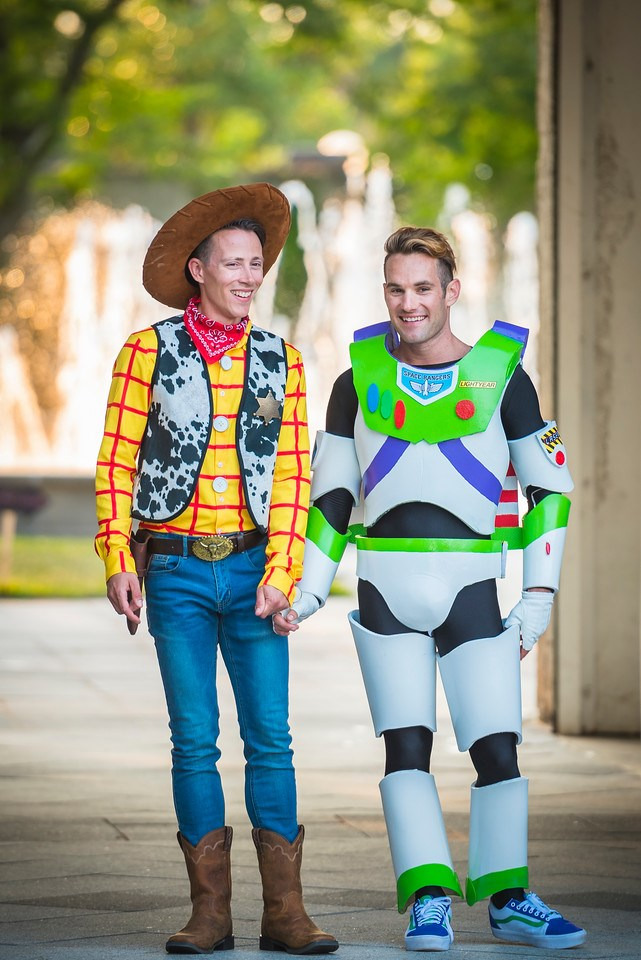 Jason Bitner and Garrett Smith channeled Woody and Buzz in costume ...