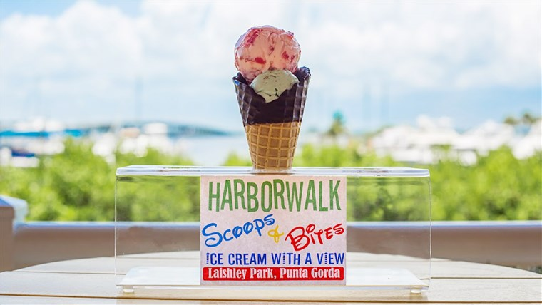 Harborwalk Scoops & Bites Ice Cream in Punta Gorda, FL.