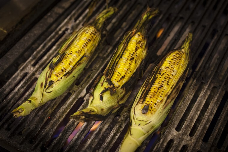 Grillowany corn on the grill