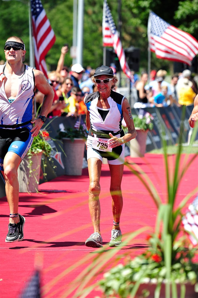 Iron Nun Sister Madonna Buder forgot her shoes at recent race