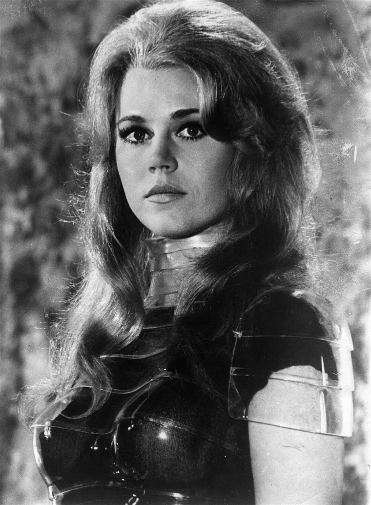 1967: American actress and activist Jane Fonda as the space siren in the film 'Barbarella.'