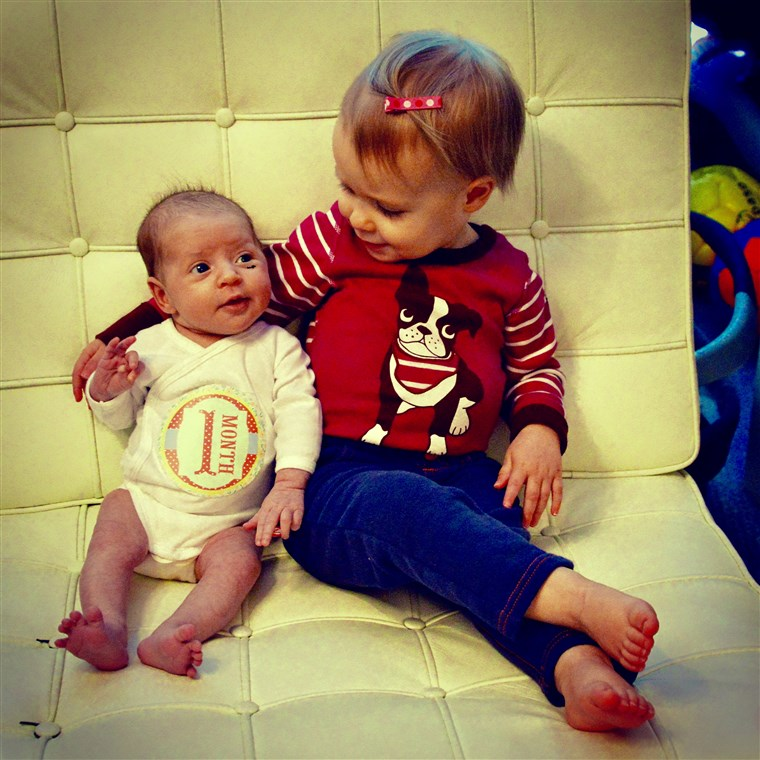 Bem hello there, little sister, let me show you the ropes around here: Quinn and Harper.