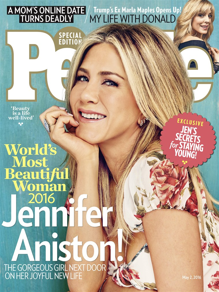 Jennifer Aniston is on the cover of People's World's Most Beautiful Issue