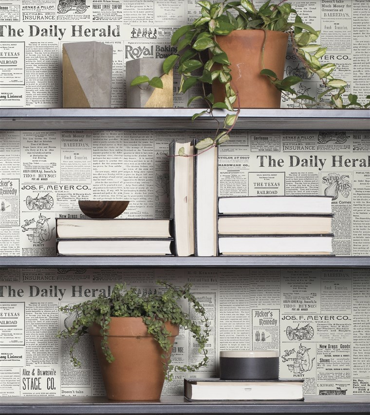De Daily: Archival newsprint from an actual 1930s paper brings a bit of small town to any home.
