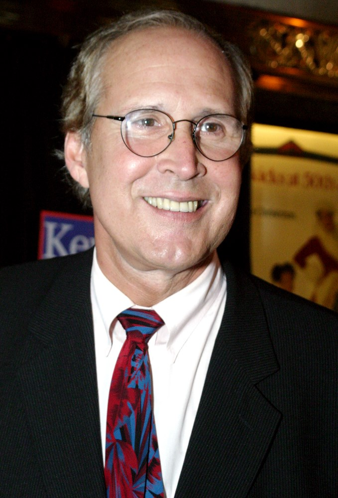 ** CORRECTS CAPTION TO INDICATE THAT PICTURE WAS TAKEN AFTER ARRIVAL **Chevy Chase is shown at Radio City Music Hall while attending a Democratic Party fundraiser for the Kerry-Edwards presidential campaign, Thursday, July 8, 2004 in New York. (AP Photo/Tina Fineberg)
