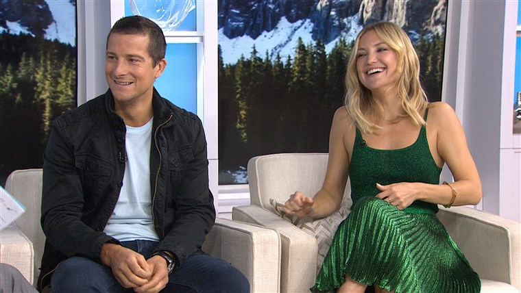 Kate Hudson gets primal with Bear Grylls on 'Running Wild'