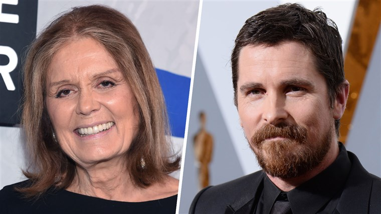 Gloria Steinem and Christian Bale