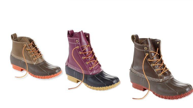L.L. Bean new duck boot styles