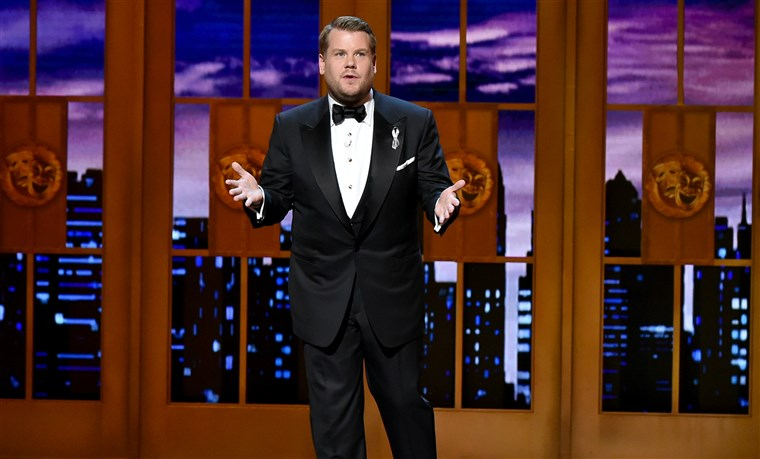 James Corden at the 70th Annual Tony Awards at The Beacon Theatre in New York City.