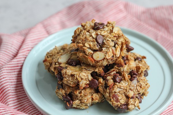 Magro banana oat flaxseed cookies