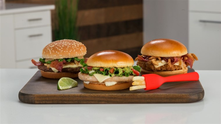 De fry-fork's release is tied to three new sandwiches, Maple Bacon Dijon, Pico Guacamole and Sweet BBQ Bacon.