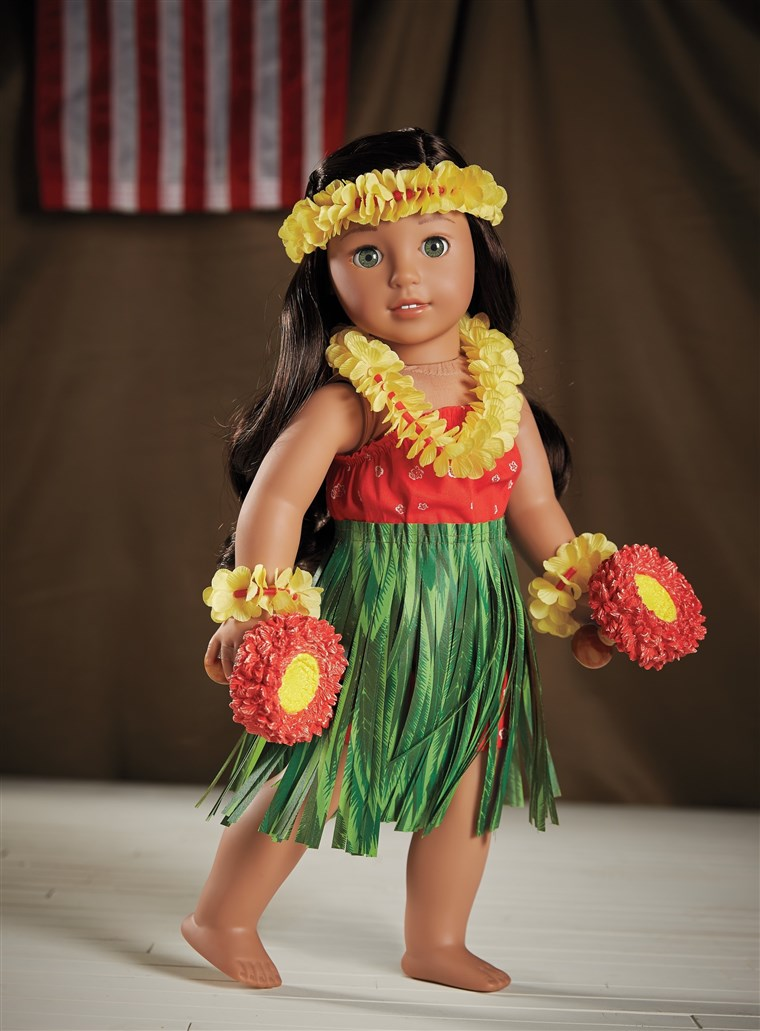 Satu of the accessories available for Nanea is a traditional hula outfit.