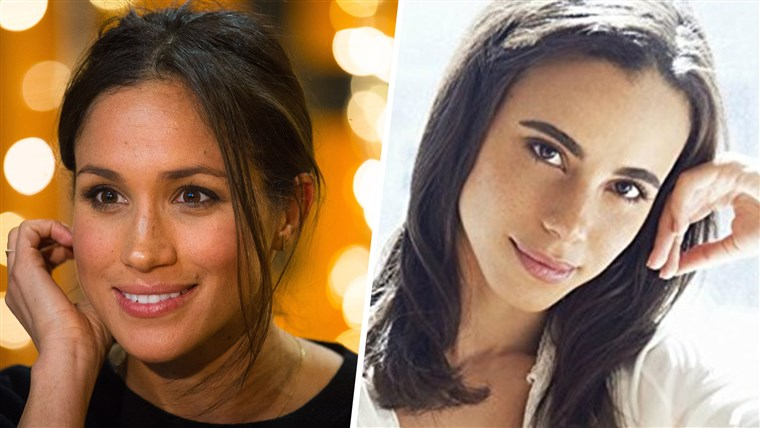 Meghan Markle, left, will be portrayed by actress Parisa Fitz-Henley in an upcoming Lifetime movie.