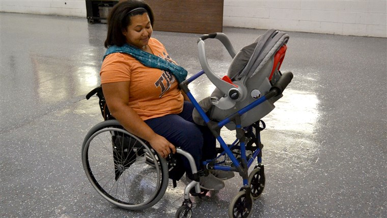 foto's taken of the stroller wheelchair attachment when Kane presented it to Jones.