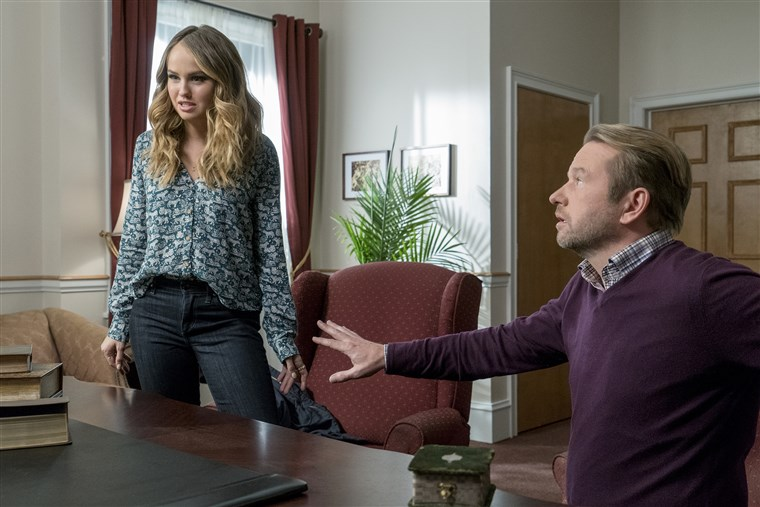 Dallas Roberts and Debby Ryan in Insatiable