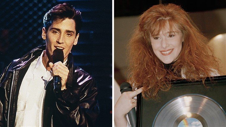 Penyanyi Tiffany and Jonathan Knight